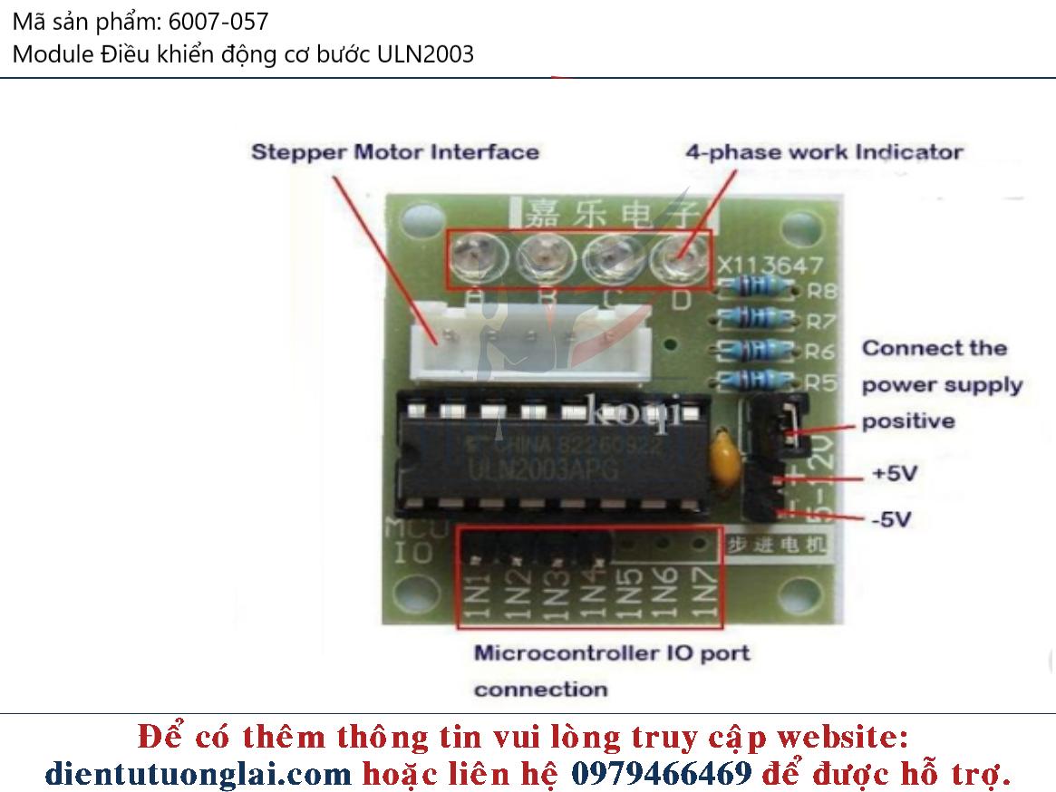 Module Điều khiển động cơ bước ULN2003